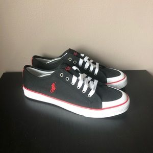 NEW Polo Ralph Lauren Chancery Canvas Black/Red